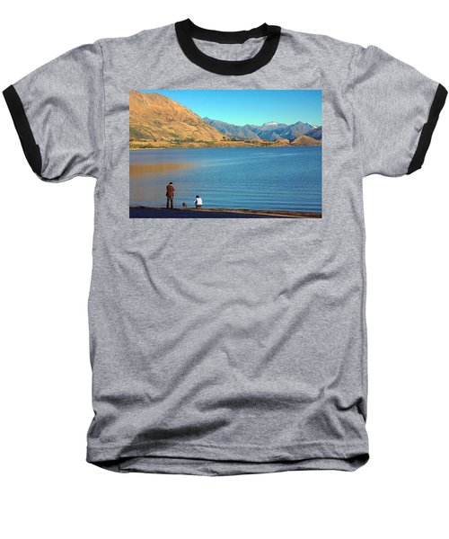 Shooting Ducks On Lake Wanaka Baseball T-Shirt by Stuart Litoff