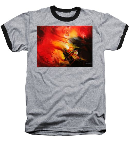 Baseball T-Shirt featuring the painting Shooting Star by Kume Bryant