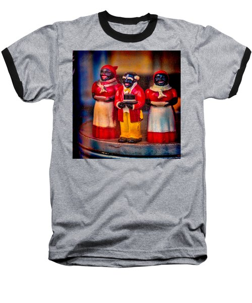 Baseball T-Shirt featuring the photograph Shop Window Trio by Chris Lord