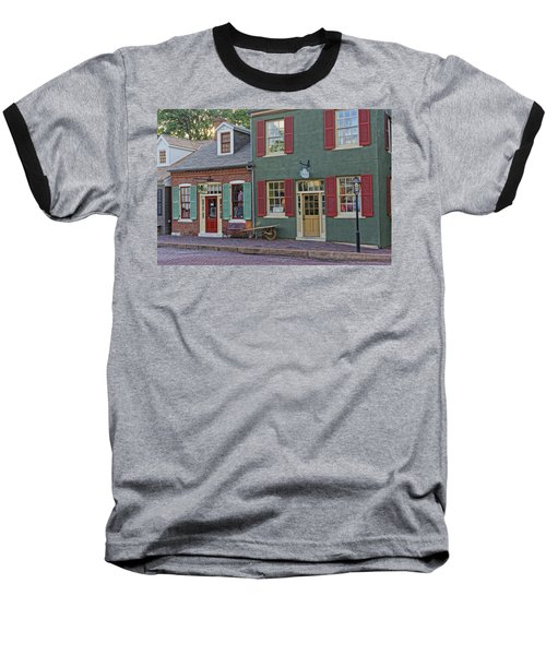 Shops S Main St Charles Mo Dsc00886  Baseball T-Shirt by Greg Kluempers