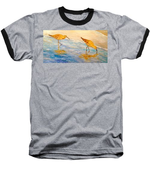 Baseball T-Shirt featuring the painting Shore Patrol by Alan Lakin