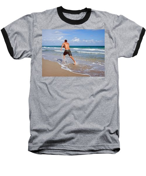 Baseball T-Shirt featuring the photograph Shore Play by Keith Armstrong