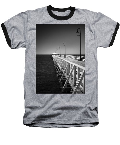 Shorncliffe Pier In Monochrome Baseball T-Shirt