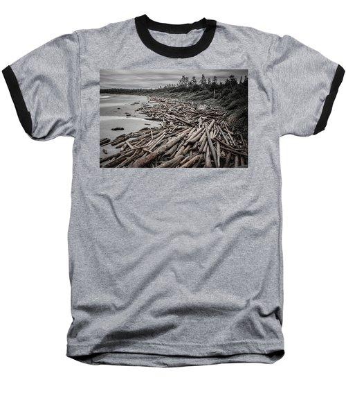 Shoved Ashore Driftwood  Baseball T-Shirt