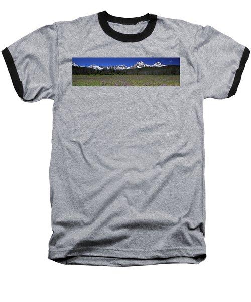 Showy Penstemon Wildflowers Sawtooth Mountains Baseball T-Shirt