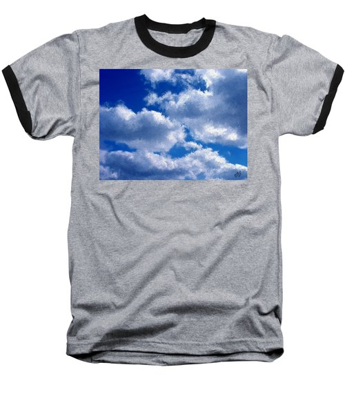 Shredded Clouds Baseball T-Shirt by Bruce Nutting