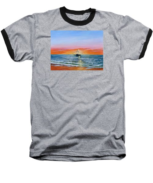 Shrimp Boat Baseball T-Shirt
