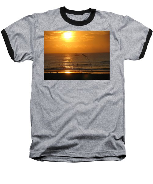 Shrimp Boat Sunrise Baseball T-Shirt
