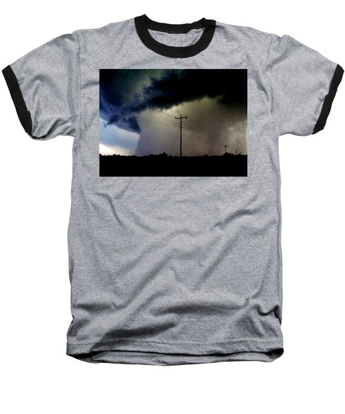Baseball T-Shirt featuring the photograph Shrouded Tornado by Ed Sweeney