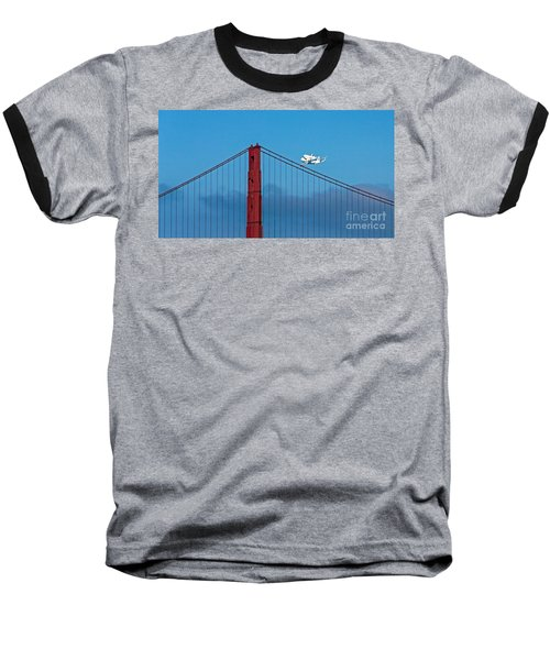 Shuttle Endeavour At The Golden Gate Baseball T-Shirt by Kate Brown