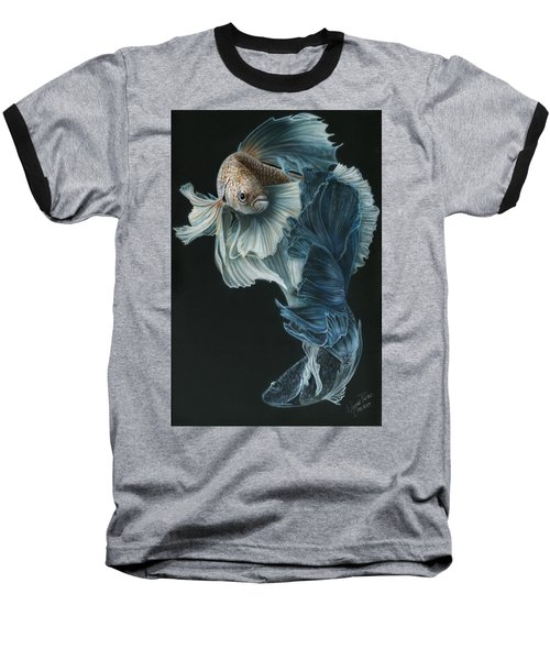 Siamese Fighting Fish Three Baseball T-Shirt