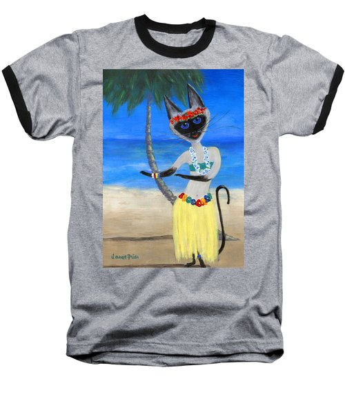 Siamese Queen Of Hawaii Baseball T-Shirt
