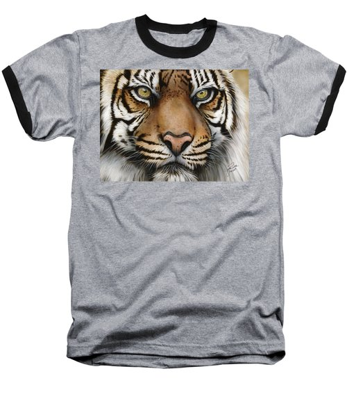 Siberian Tiger Closeup Baseball T-Shirt