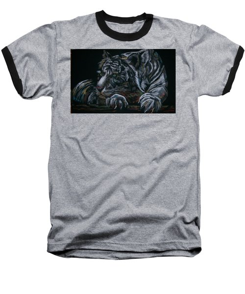 Baseball T-Shirt featuring the pastel Siberian Tiger by Peter Suhocke