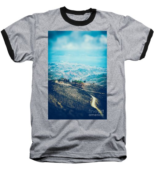 Baseball T-Shirt featuring the photograph Sicilian Land After Fire by Silvia Ganora