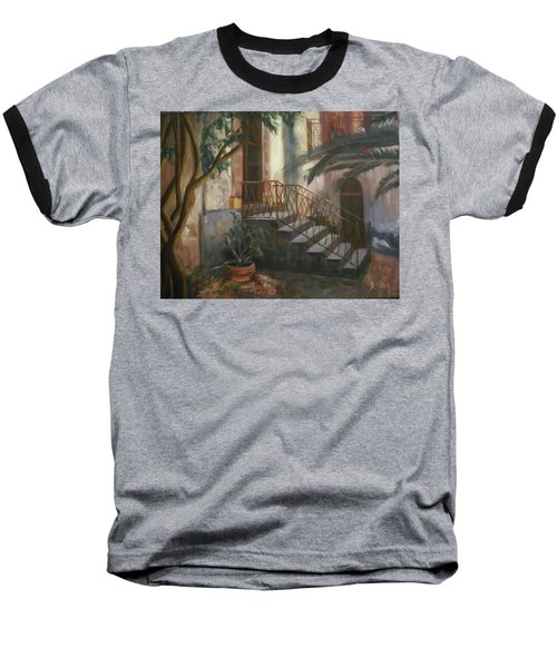 Baseball T-Shirt featuring the painting Sicilian Nunnery by Donna Tuten