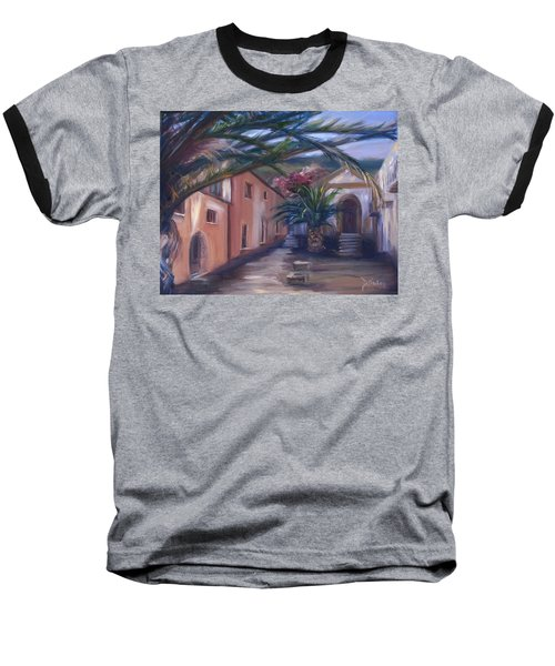 Baseball T-Shirt featuring the painting Sicilian Nunnery II by Donna Tuten