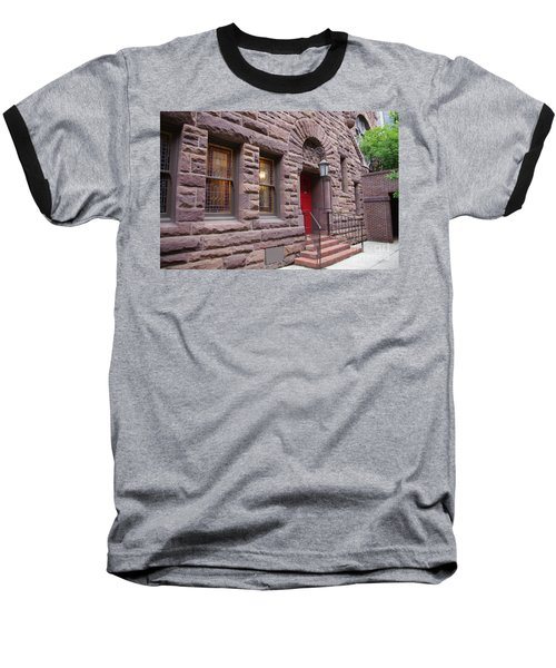 Side Door Baseball T-Shirt by Liz Masoner
