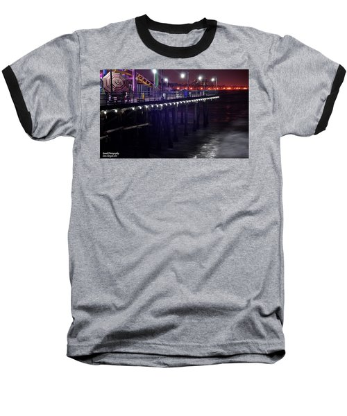 Side Of The Pier - Santa Monica Baseball T-Shirt