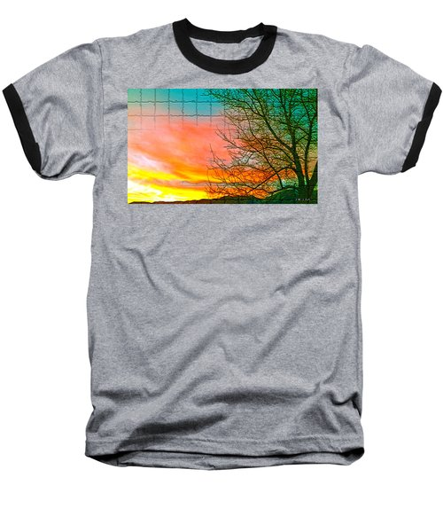 Sierra Sunset Cubed Baseball T-Shirt