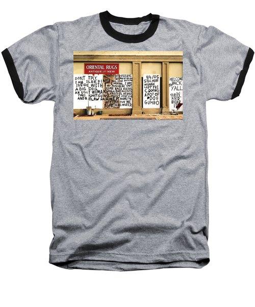 Sign Of Distress Post Hurricane Katrina Message Baseball T-Shirt