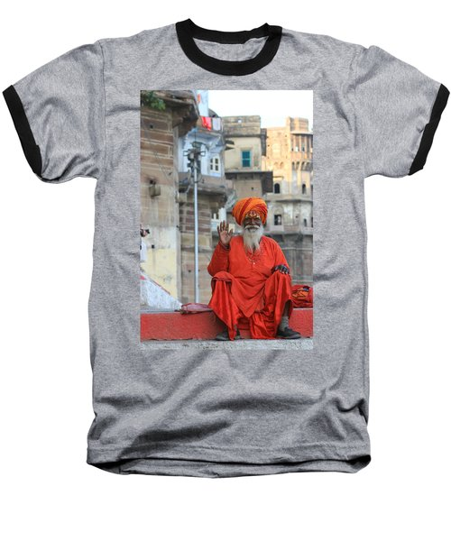 Indian Man Baseball T-Shirt by Amanda Stadther