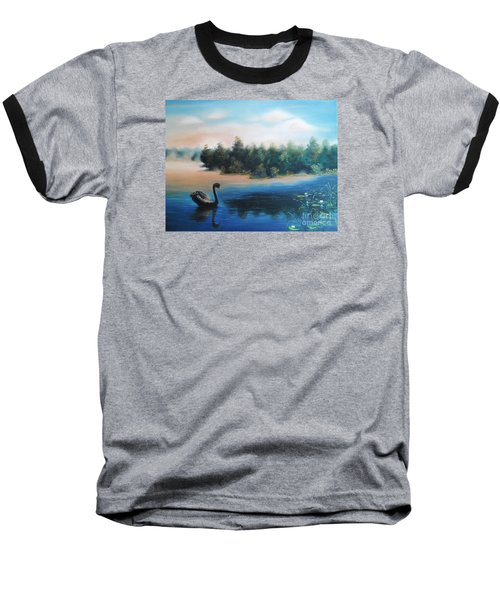 Baseball T-Shirt featuring the painting Silence by Vesna Martinjak