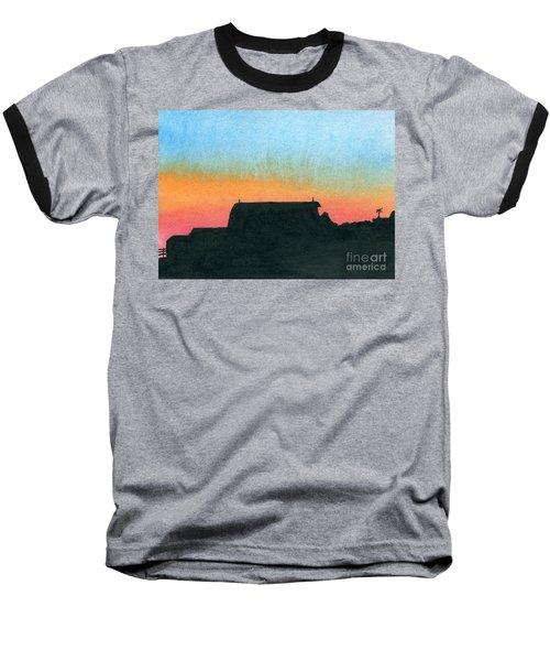 Silhouette Farmstead Baseball T-Shirt by R Kyllo