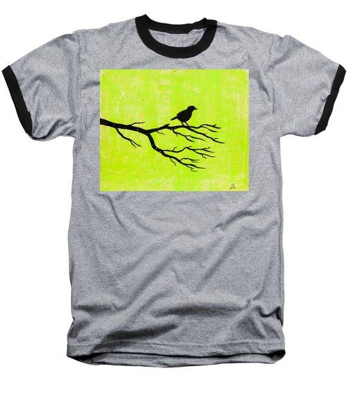 Silhouette Green Baseball T-Shirt