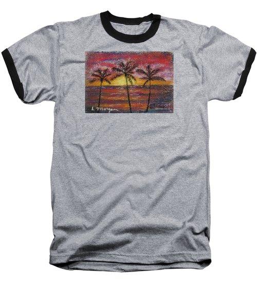 Island Silhouette  Baseball T-Shirt