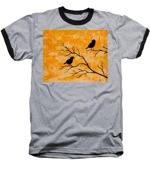 Silhouette Orange Baseball T-Shirt