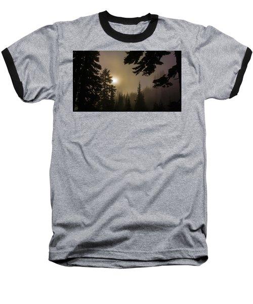 Silhouettes Of Trees On Mt Rainier II Baseball T-Shirt