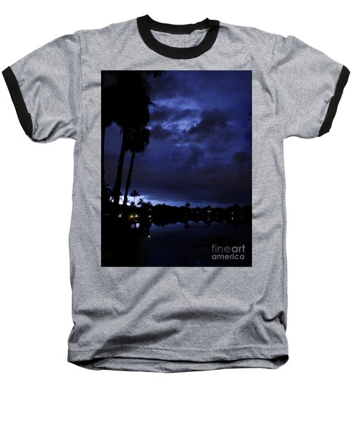 Silhouetting Palms Baseball T-Shirt