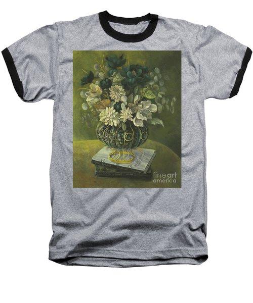 Baseball T-Shirt featuring the painting Silk Floral Arrangement by Marlene Book