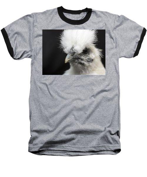 Silkie Chicken Portrait Baseball T-Shirt