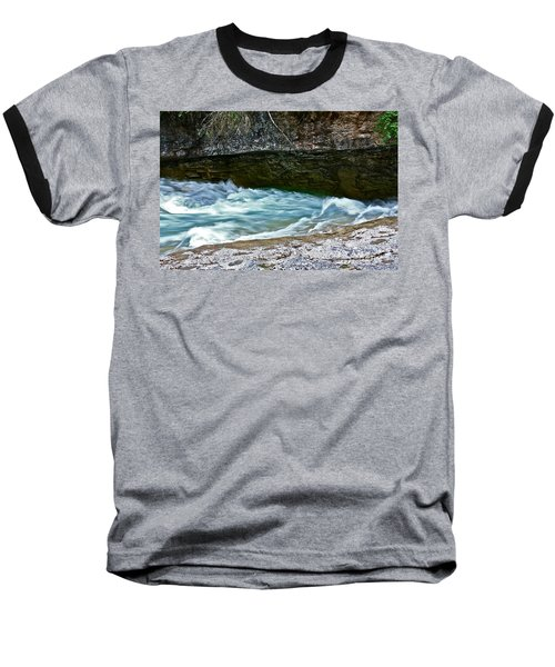 Baseball T-Shirt featuring the photograph Silky Flow by Linda Bianic