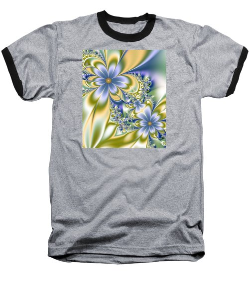 Baseball T-Shirt featuring the digital art Silky Flowers by Svetlana Nikolova