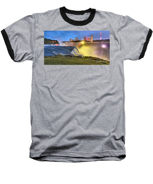 Silky Niagara Falls Panoramic Sunset Baseball T-Shirt