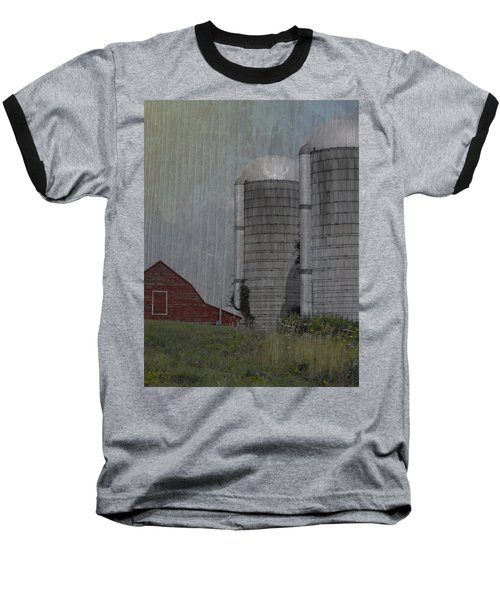 Silo And Barn Baseball T-Shirt by Photographic Arts And Design Studio