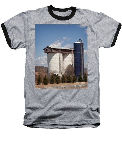 Silo House With A View - Color Baseball T-Shirt