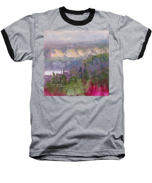 Silver And Gold - Matanuska Canyon Cliffs River Fireweed Baseball T-Shirt