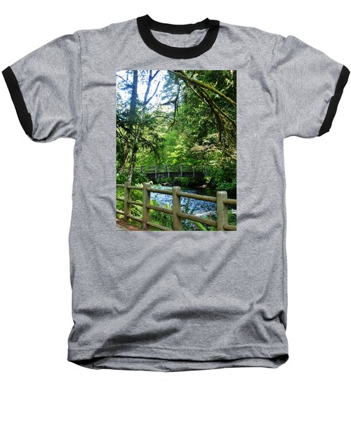 Baseball T-Shirt featuring the photograph Silver Falls Stream by VLee Watson