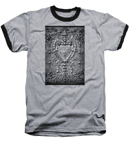Silver Flourish Baseball T-Shirt