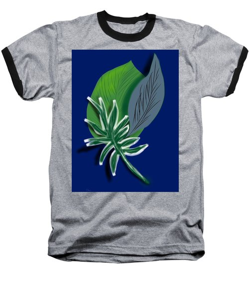 Baseball T-Shirt featuring the digital art Silver Leaf And Fern I by Christine Fournier