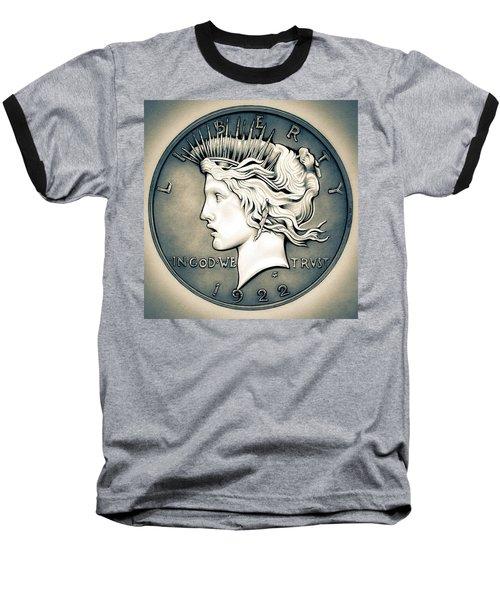 1922 Silver Proof Peace Dollar Baseball T-Shirt