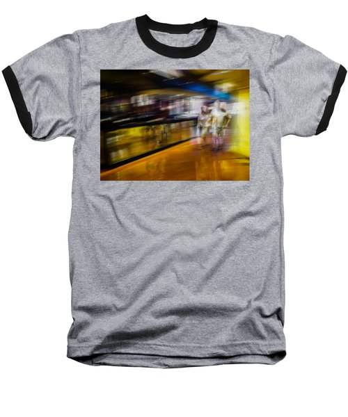 Baseball T-Shirt featuring the photograph Silver People In A Golden World by Alex Lapidus