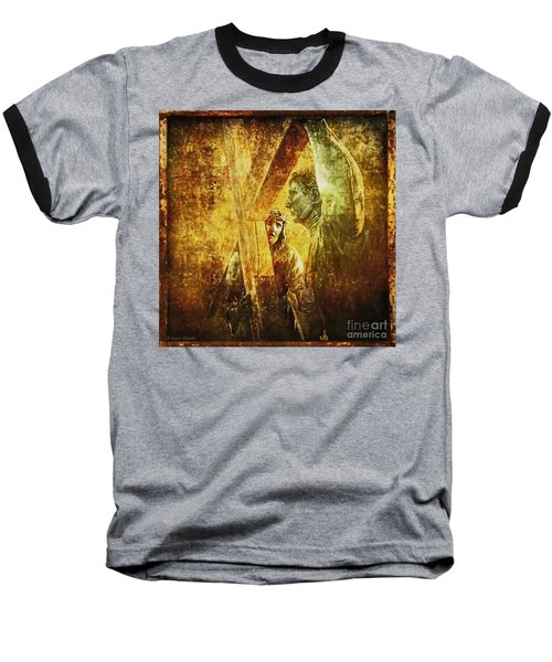 Simon Helps Jesus Via Dolorosa 5 Baseball T-Shirt