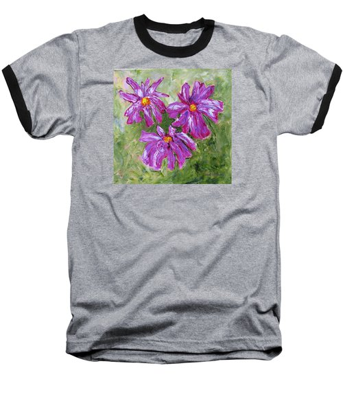Simple Flowers Baseball T-Shirt