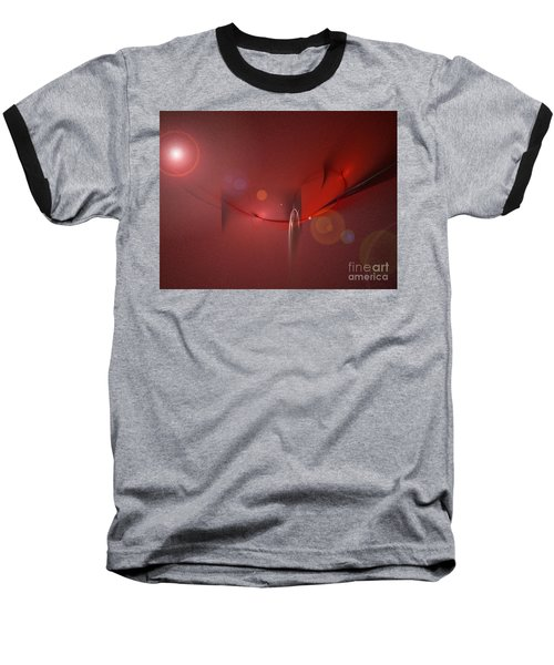 Baseball T-Shirt featuring the digital art Simply Red by Jacqueline Lloyd