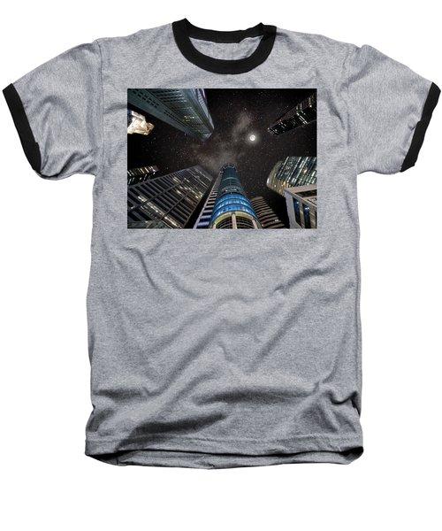 Singapore Moon Sky Baseball T-Shirt